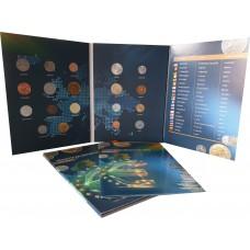 Набор Монеты До Введения Евро в альбоме, с буклетом