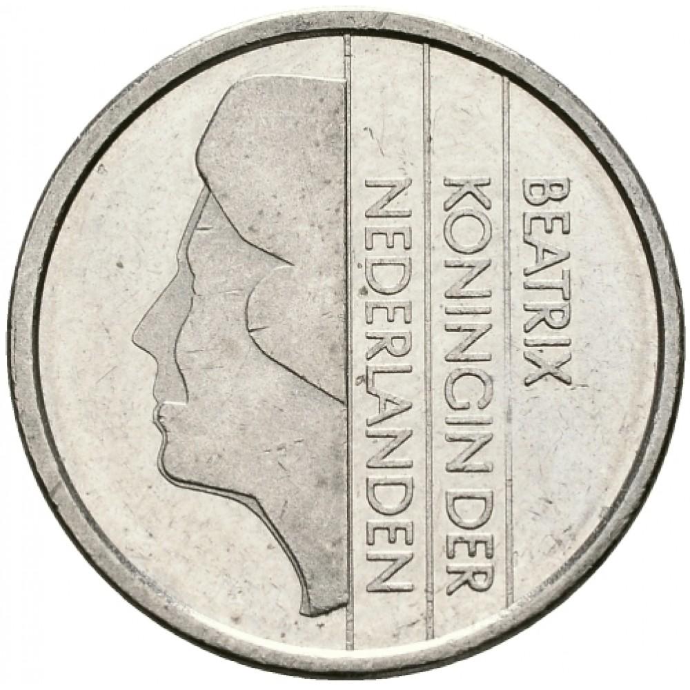 25 центов Нидерланды 1982-2001 год