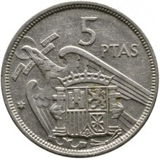5 песет Испания 1940-1966