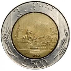 Италия 500 лир 1982-2001