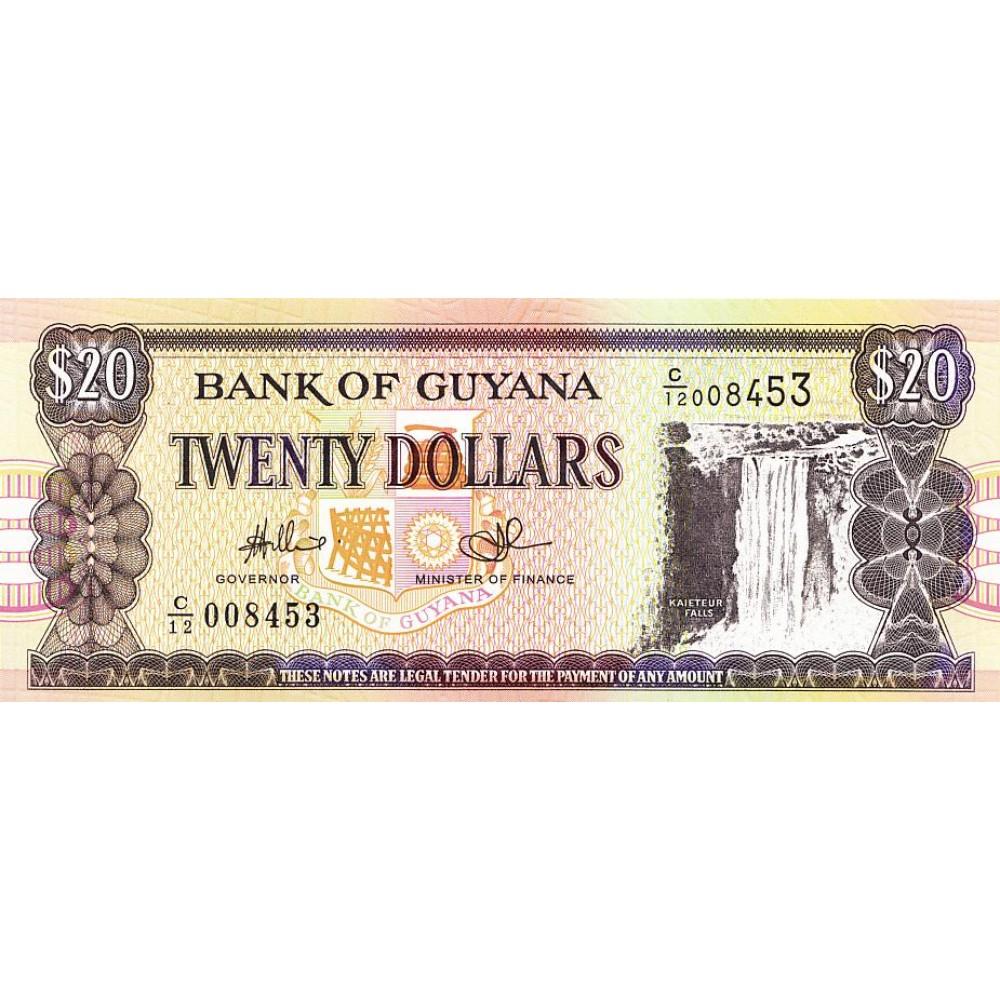 Гайана 20 долларов 2009 UNC