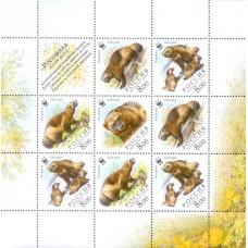2004 Росомаха.Выпуск по программе WWF. Малый лист № 966-969.