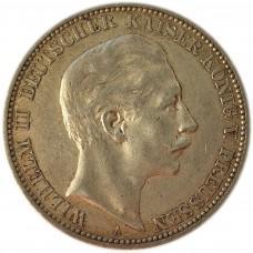 3 марки 1911 года Германская Империя (Пруссия), Серебро 900