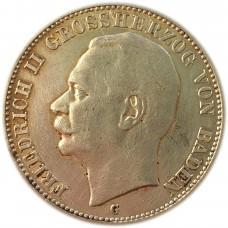 3 марки 1914 года Германская Империя (Пруссия), Баден, Серебро 900