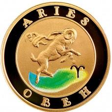 10000 драмов 2009 Овен - Знаки Зодиака, Армения. Золото 900