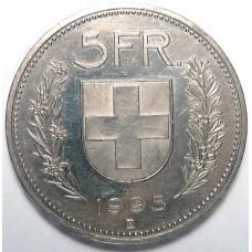 5 франков 1995 Швейцария (Confoederatio Helvetica)