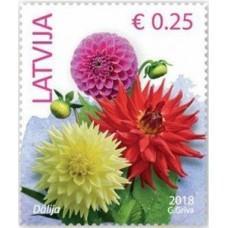 2018 Латвия. Латвия. Стандартный выпуск. Цветы.