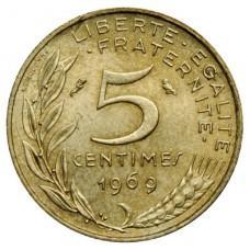 5 сантимов Франция 1966-2002