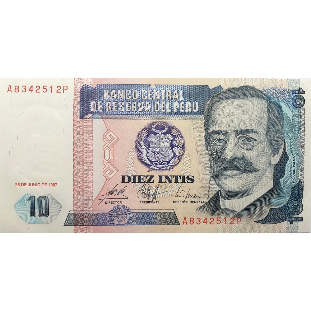 Перу. 10 инти 1987 года. UNC пресс