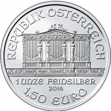 Австрия 1,5 евро 2014 .Серебро. ПРУФ