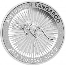 Австралия 1 доллар 2017. Кенгуру. Серебро. ПРУФ