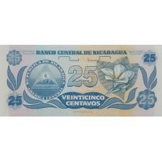 Никарагуа.25 сентаво.1991 UNC пресс.