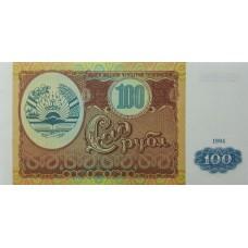 Таджикистан.100 рублей.1994.UNC пресс.