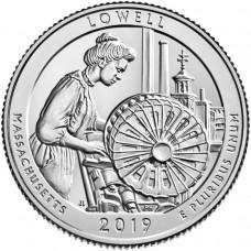 25 центов США 2019 Национальный Парк Лоуэлл. 46-Й ПАРК. Двор D