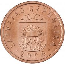 2 сантима 1992-2013 Латвия
