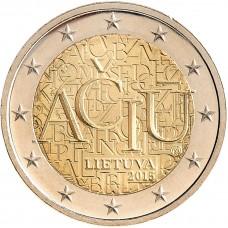 2 Евро 2015 Литва UNC.Спасибо