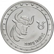 1 рубль Телец - Знаки Зодиака Приднестровье, 2016 год