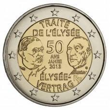 2 Евро 2013 Франция XF.50 лет франко-германской дружбы