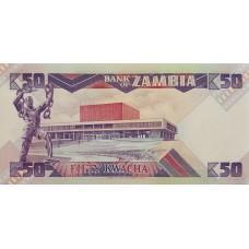Замбия .50 квача.1986-1988.UNC