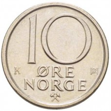 10 эре 1976-1991 Швеция, Карл XVI Густав