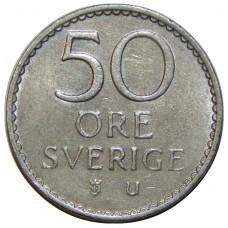 50 эре 1962-1973 Швеция, Густав VI Адольф