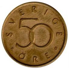 50 эре 1992-2009 Швеция, Карл XVI Густав