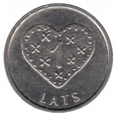 1 лат 2011 Латвия.Пряничное сердце