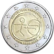 2 Евро 2009 Франция XF.10 лет Экономическому и валютному союзу