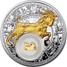 20 рублей 2013 Козерог - Беларусь - Знаки Зодиака. Серебро и золото.