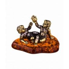 Знак Зодиака Близнецы на янтаре