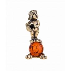 Знак Зодиака Водолей на янтарном шаре