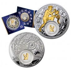 20 рублей 2013 Водолей - Беларусь - Знаки Зодиака. Серебро и золото.