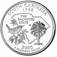 25 центов США 2000 Южная Каролина