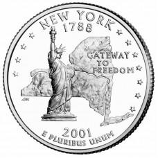 25 центов США 2001 Нью-Йорк