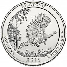 25 центов США 2015 Национальный лес Kisatchie