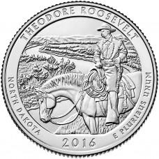 25 центов США 2016 Национальный парк Теодора Рузвельта