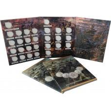 Альбом для монет 2, 5, 10 рублей 200 лет Бородино 1812 года - тип 2
