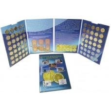 Альбом для монет 10 рублей ГВС -70 ячеек- (Города Воинской Славы) блистерный по 2020-е годы