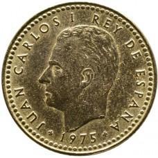 1 песета Испания 1975 год - Хуан Карлос I