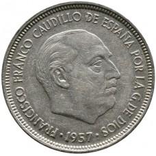 5 песет Испания 1940-1966 годы