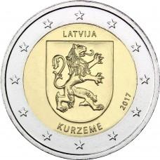 2 Евро 2017 Латвия UNC.Курземе