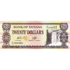 Гайана.20 долларов. 2009.UNC
