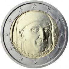 2 Евро 2013 Италия UNC. Джованни Боккаччо