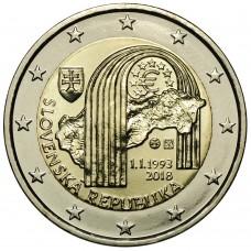 2 Евро 2018 СловакияUNC.25-летие создания Словацкой Республики