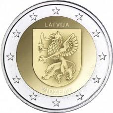 2 Евро 2016 Латвия UNC.Видземе