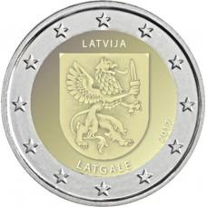 2 Евро 2017 Латвия UNC.Латгале
