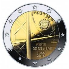 2 Евро 2016 ПортугалияUNC.Мост 25-го апреля